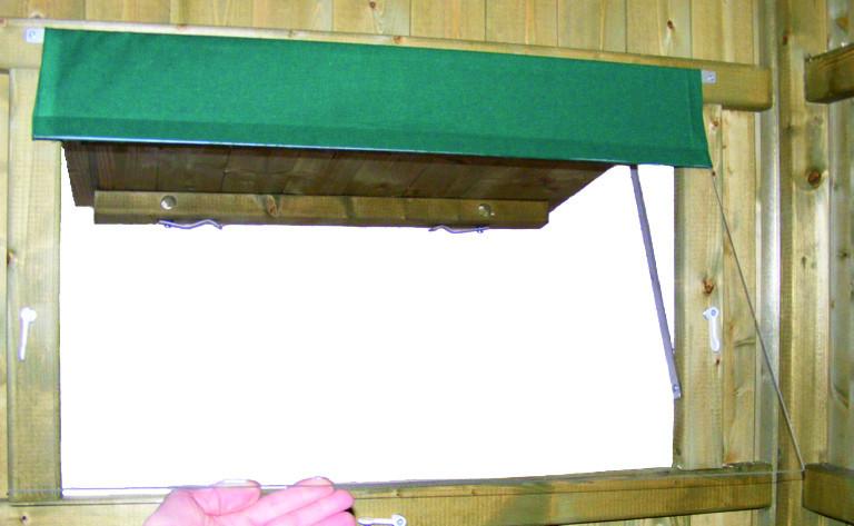 Wetterschutzscheibe aus Plexiglas