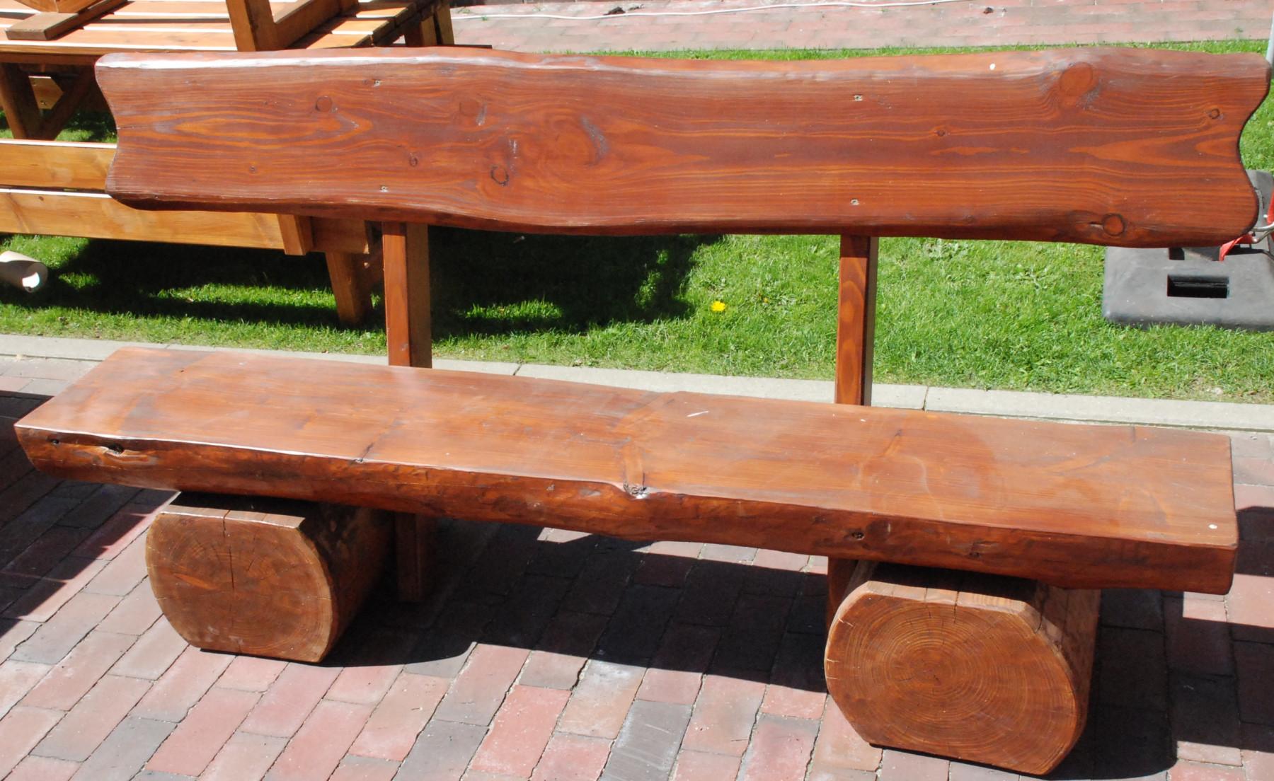 Rustikale Gartenbank Holz Garten